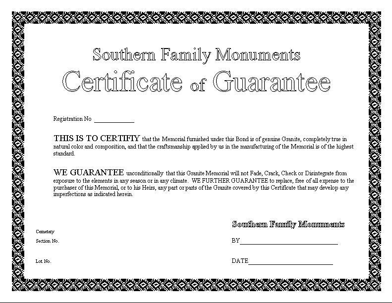 certificateofguarantee